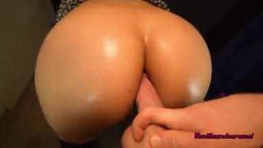 Latina Gets Creamy Pussy Pounded With a Dildo In Her Ass