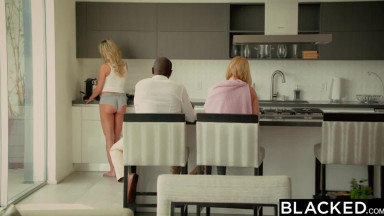 Cheating blonde MILF takes first BBC