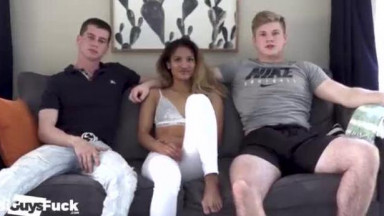 ASIAN SEXY GIRL GETS 2 HOT JOCKS TO 4UCK HER AND OTHER
